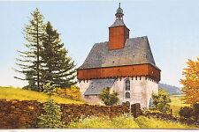 18929 Photochromie AK Großrückerswalde Wehrgang Kirche um 1920 Erzgebirge