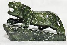 Figur Jade Jadeschnitzereie Tiger Jadetiger China Feng Shui Asiatika