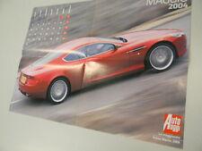 Q64  Poster Aston Martin retro Aida Yespica sexy maggio 2004 Auto Oggi  42X56