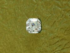 ONE  PC  -  3 CT ASSCHER SIMULATED DIAMOND WHITE  8 X 8  MM