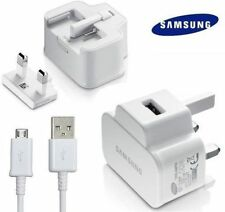 100% NEW SAMSUNG GALAXY S3 S4 S5 MINI NOTE 2 MAINS CHARGER PLUG+DATA CABLE