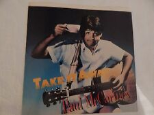 "Paul McCartney ""Take It Away"" PICTURE SLEEVE! MINT! ONLY NEW COPY ON eBAY!!"