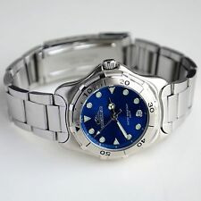 Quiksilver Stainless Steel Blue Dial Water Resistant 330ft Men's Watch