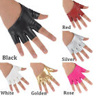 Personality Ladies Half Finger PU Leather Gloves Fingerless Palm Driving Show