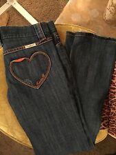 FRANKIE B Heart Pocket Skinny Jeans Size 6