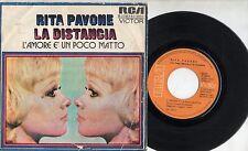 RITA PAVONE disco 45 g STAMPA SPAGNOLA L'amore e un poco matto CLAUDIO BAGLIONI