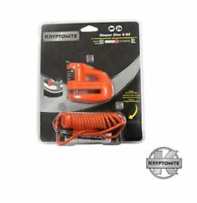 KRYPTONITE MOTORBIKE / SCOOTER KEEPER DISC LOCK 5-S2 & REMINDER CABLE - ORANGE