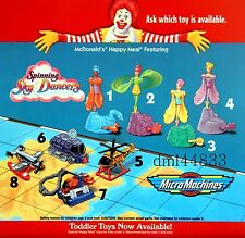 1997 McDonalds Micro Machines Complete MIP Set  - Lot of 4, Boys, 3+