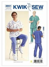Kwik Sew Sewing Pattern 2861 OOP Men's Doctor Nurse Scrubs Shirt Pants S-XXL