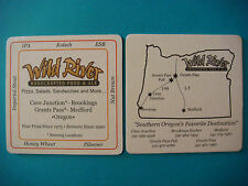 BEER Coaster: WILD RIVER Handcrafted Food & Ale ~ Brookings, Grants Pass, OREGON
