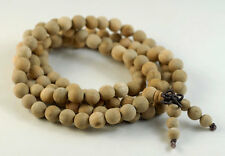 8mm 108PCS Natural Aromatic Indian Sandalwood Mala Meditation Beads Round 33""