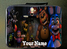 RED Personalised Five Nights at Freddy Style Insulated Lunch Bag 24CM X 18CM
