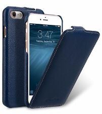 "Genuine Melkco Premium Leather Flip Case for iPhone 7 (4.7"") Jacka DARK BLUE 101"