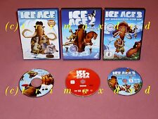 3x DVD _ Ice Age & Ice Age 2 Jetzt taut's & Ice Age 3 Die Dinosaurier sind los