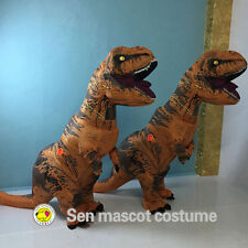 IN USA !!!! INFLATABLE T-REX ADULT Costume Jurassic World Park Blowup Dinosaur