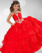 Girls Pageant Dance Party Princess Ball Gown Formal Flower Girl Dresses size  8