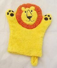 King of the Jungle Lion Cloth Mitt Mitten Hand Puppet Baby Bath Tub Wash Toy