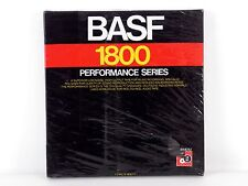 "NEW OLD-STOCK BASF 1800 PERFORMANCE SERIES 1/4"" X 7"" REEL w TAPE  SEALED"