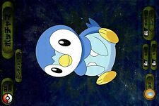 OVERSIZE JAPANESE POKEMON CARD (8cm X 12cm) BROMIDES 085 PIPLUP TIPLOUF HOLO DX