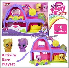 New my little pony playskool amis applejack activité barn playset figurines voiture