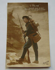 "CPA Carte Postale Ancienne Photo ""L'Alpin"" Militaire Chasseur Alpin 1918"
