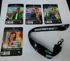 *NEW* GTA 5 Lanyard + 4 PROMO CARDS- ID Badge PROMO ONLY Grand Theft Auto V