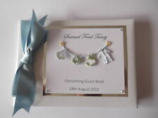WASHING LINE CHRISTENING BABY SHOWER  LUXURY GUESTBOOK