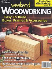 Weekend Woodworking magazine Easy to build boxes frames and accessories Tips