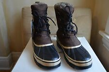 EDDIE BAUER BROWN SUEDE SHEARLING BLIZZARD SNOW DUCK BOOTS 1O M WATER RESISTANT