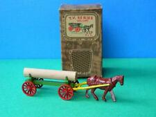 VINTAGE 1954 BOXED BENBROS DIECAST QUALITOY TV SERIES HORSE DRAWN LOG CART No.2
