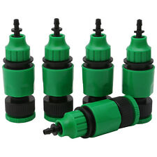 5Pc Garden Hose Pipe One Way Adapter Tap Connector Fitting For Irrigation System