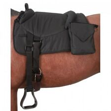 New Tough-1 Premium Horse Bareback Pad w/ Accessory Bag. Brown
