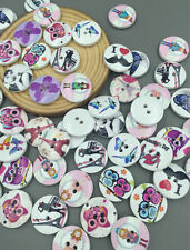 DIY 20X Buttons Sewing Scrapbooking Butterfly Girl Owl Tower Randomly Mixed 20mm