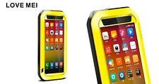Love Mei Metallgehäuse für Xiaomi Mi4 spritz Wasserdicht Stabiles Schutz gelb