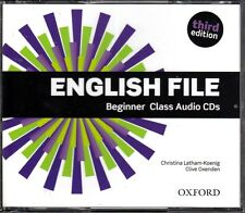 Oxford ENGLISH FILE THIRD EDITION 2015 Beginner Class Audio CD's @NEW Sealed@