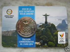 BELGIO 2016 2 EURO COINCARD GIOCHI OLIMPICI RIO 2016 OLIMPIADI BELGIUM BELGIEN