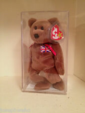 Retired Authenticated *Britannia* Ty Beanie Baby Bear ~5th gen~MWMT!! WOW!!