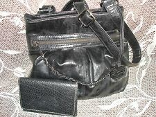 "Style & Co black crossbody 10""H, 31 sd/ Rolfs cowhide leather wallet/coin purse"