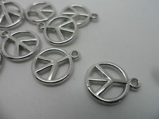 25 x  Acrylic/Plastic CND~Peace sign~Pendants/Beads/Charms Jewellery making