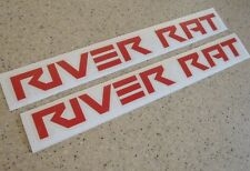 River Rat River Boating Fishing Decals 2-PAK RED FREE SHIP + Free Fish Decal!