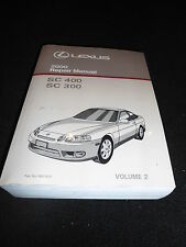 2000 LEXUS SC400 SC300 SC 400 SC 300 Service Repair Shop Manual Volume 2