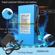 18000mAh DC12V Rechargeable Multipurpose Protable Li-ion Battery+EU Plug Charger