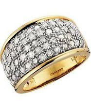 100 Point 9ct Gold Diamond Pave Ring*Guaranteed 1ct*Brand New*Size L