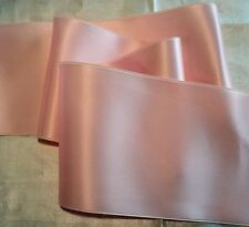 """4"""" WIDE SWISS DOUBLE FACE SATIN RIBBON- LIGHT PINK -  BY THE YARD"""