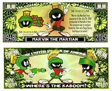 Marvin the Martian Million Dollar Collectible Funny Money Novelty Note
