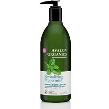 Avalon Organics Hand - Body Lotion, Peppermint 12 oz