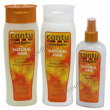 Cantu Shea Butter Natural Hair Sulfate-Free Shampoo, Conditioner & Detangler SET
