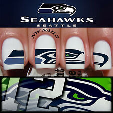 Seattle Seahawks Large Logo Nail Art Waterslide Decals NFL Game Day Nails