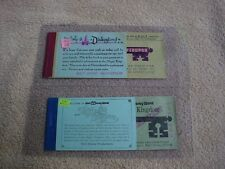 Disney World 1972 + Disneyland tickets 1968  - BOTH WITH ALL TICKETS IN BOOKLETS