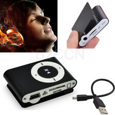 Black Metal Mini USB Clip MP3 Player Support 32GB Micro SD TF Card Music Media